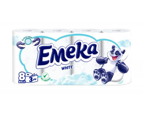 Тоалетна хартия Емека 8бр Бяла