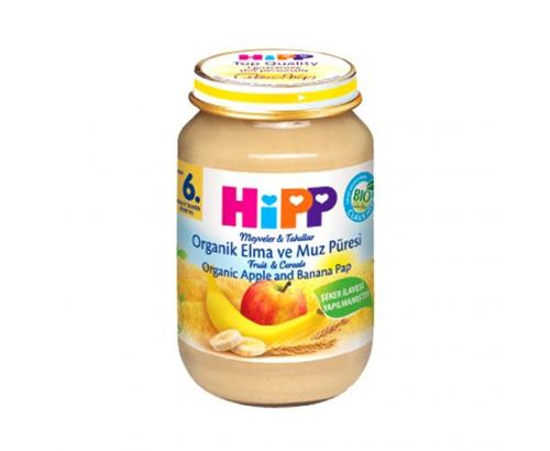 Био пълнозърнеста каша Хип 190г Ябълка, банан, бисквити