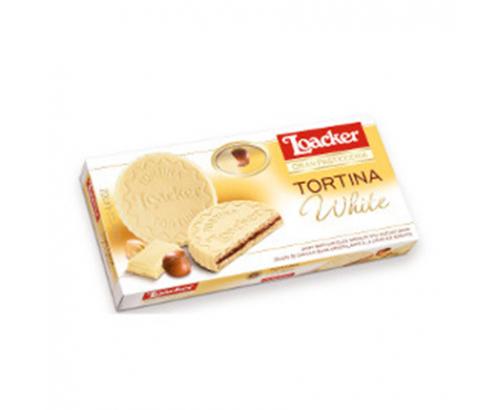 Бисквити Лоакер Тортина 125г Бял Шоколад