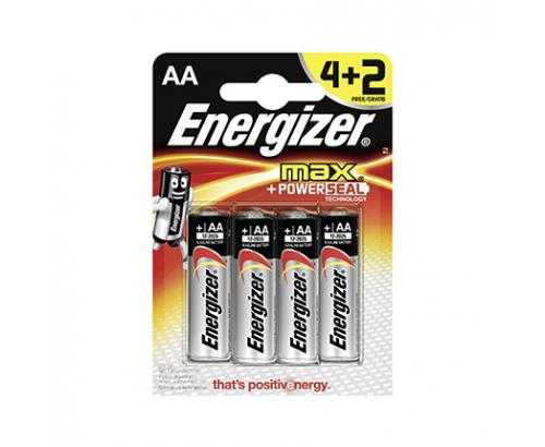 Батерии Енерджайзер Макс Алкални АА 4+2бр