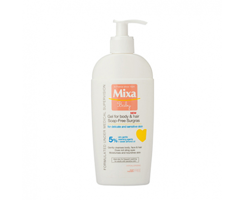 Бебешки гел за коса и тяло Микса 400мл Без сапун