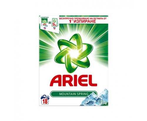 Прах за пране Ариел 1,17кг Планинска пролет