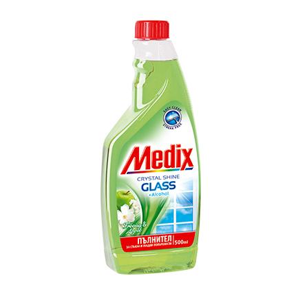 Препарат за стъкла Медикс 500мл Пълнител Фрезия и Ябълка
