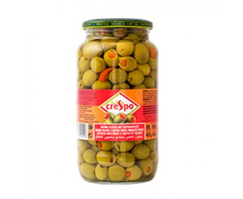 Зелени маслини Креспо 907г С паста от чушки