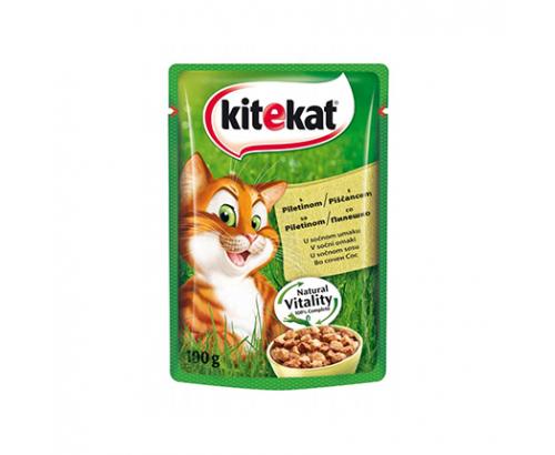 Храна за котки Китекат 100г Пауч Пилешко Месо