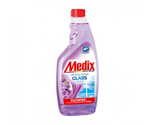 Препарат за стъкла Медикс 500мл Пълнител Люляк