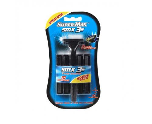 Еднократна самобръсначка Супер Макс 3 с 10 ножчета