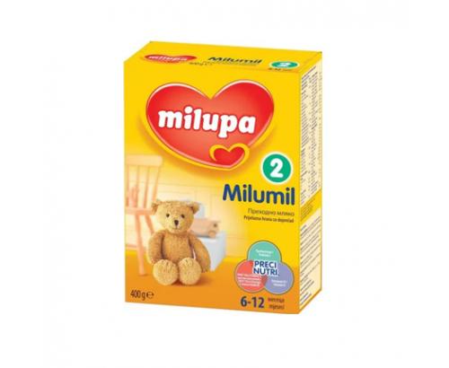 Адаптирано мляко Милумил 2 400г от 6 до 12 месеца