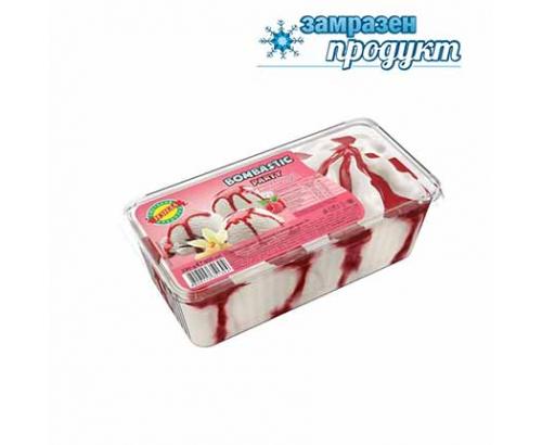 Сладолед Бомбастик Парти 800мл ванилия и малинов сироп