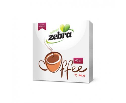 Салфетки Зебра 40бр Кафе