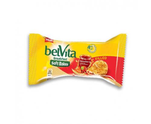 Бисквити Белвита Софт 50г Ягода с пълнеж