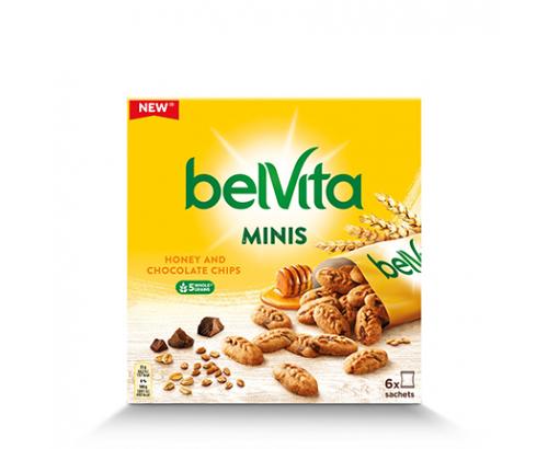Бисквити Белвита Минис 210г Мед