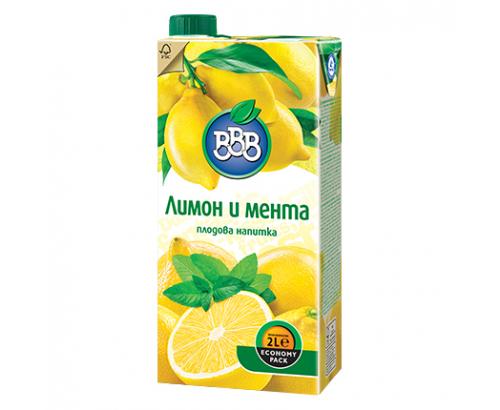 Напитка ВВВ 2л Лимон и мента