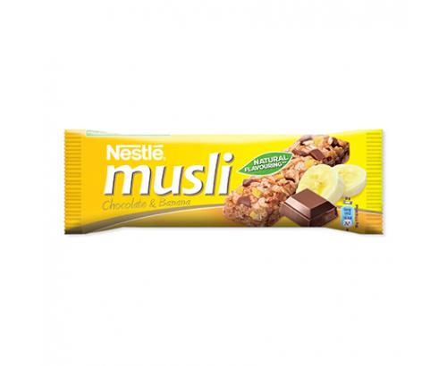 Зърнен десерт Нестле Мюсли 35г Шоколад и банан