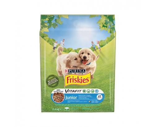 Храна за кучета Фрискас Джениър 2,4кг Суха Пиле и зеленчуци