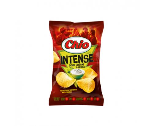 Чипс Чио Интенс 65г Сметана и билки
