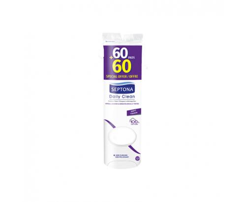 Тампони за премахване на грим Септона 60+60бр