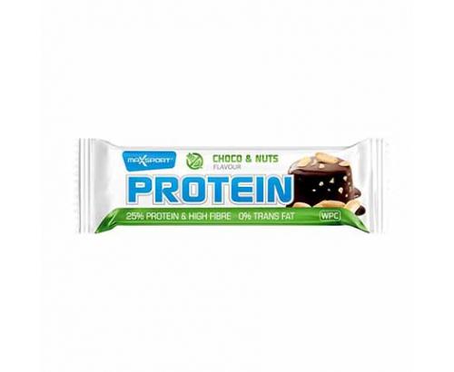 Протеинов бар Макс Спорт Без глутен 60г Шоколад и ядки