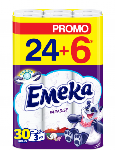 Тоалетна хартия Емека 24+6бр