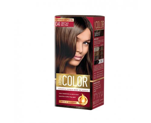 Боя за коса Арома Колор 04 Светъл Кестен