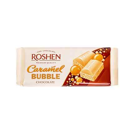 Шоколад Рошен Бабъл 80г Бял карамел