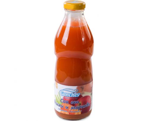 Нектар Ганчев 750мл Ябълка и морков