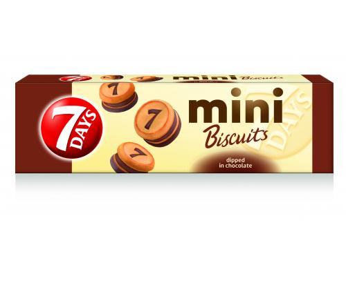 Бисквити 7 дейс мини 100г шоколад