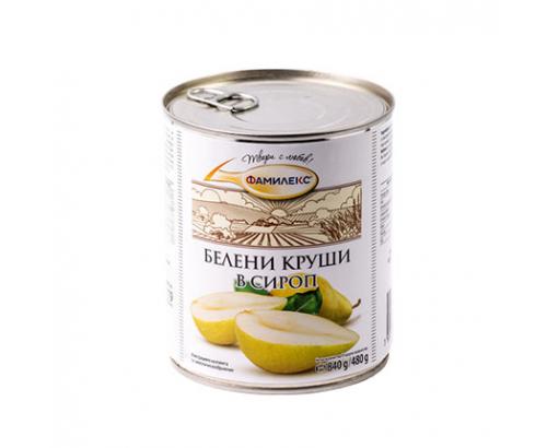 Белени круши в сироп Фамилекс 800г