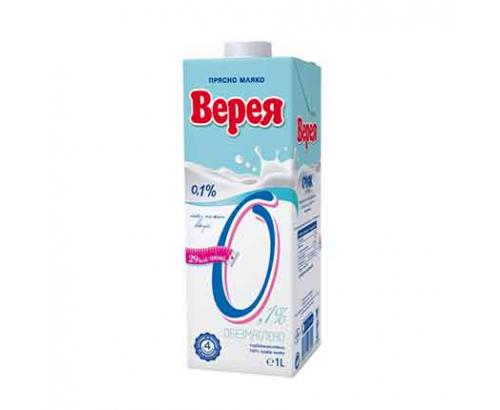 Прясно мляко Верея 0,1% 1л