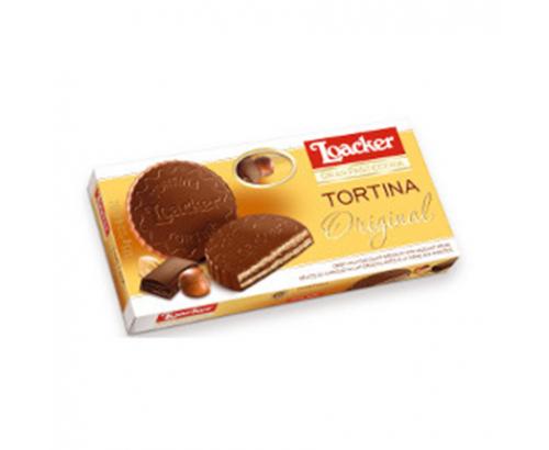 Бисквити Лоакер Тортина 125г Млечен Шоколад