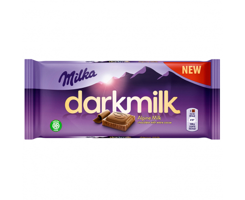 Шоколад Милка 85г Дарк Млечен