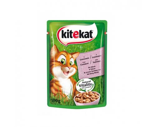 Храна за котки Китекат 100г Пауч Сьомга
