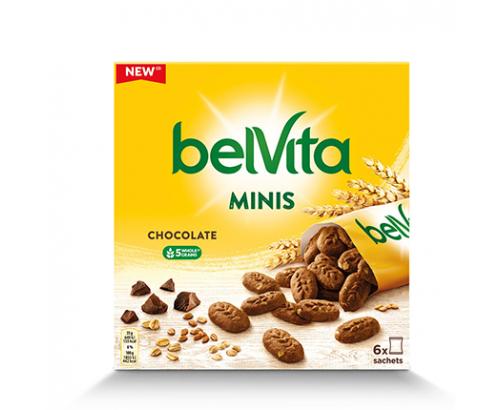 Бисквити Белвита Минис 210г Шоколад