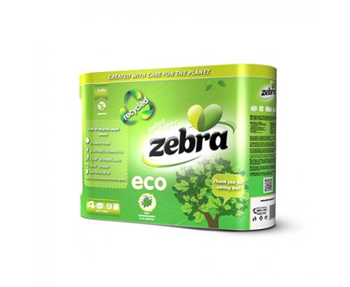 Тоалетна хартия Зебра Еко 4бр