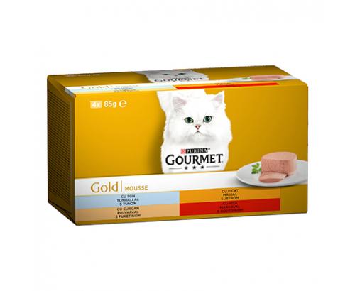 Храна за котки Гурме Голд 4х85г Пастет Асорти