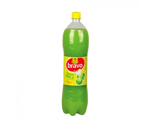 Негазирана безалкохолна напитка Браво 1,5л Зелена ябълка