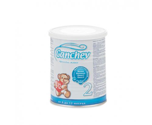 Адаптирано мляко Ганчев 400г 2 преходно 6-12 месеца