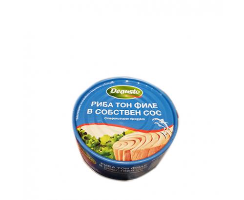 Риба тон Дегусто 160г Филе в собствен сос