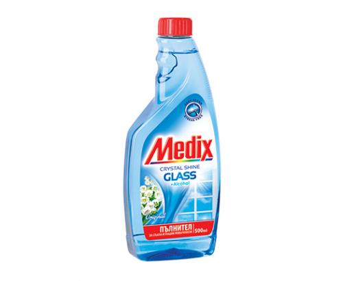 Препарат за стъкла Медикс 500мл Пълнител Оригинал