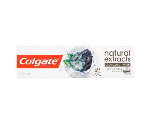 Паста за зъби Колгейт Нейчаръл екстрактс 75мл Чаркол Уайт