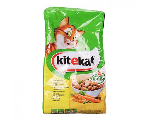 Храна за котки Китекат 300г Суха Пилешко месо и зеленчуци