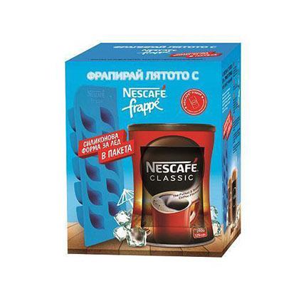 Кафе Нескафе Класик 250г + Фрапе силиконова форма за лед