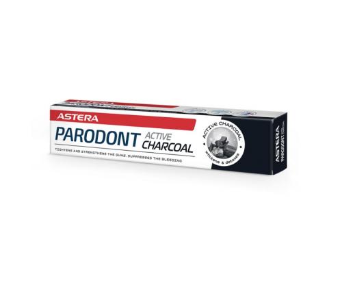 Паста за зъби Астера Парадонт 75мл Активен въглен