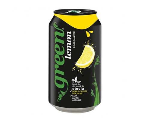 Газирана напитка Грийн 330мл Лимон Кен