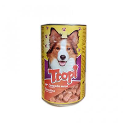 Храна за кучета Тропи 1250г Консерва говеждо