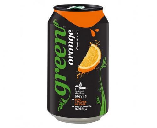 Газирана напитка Грийн 330мл Кен Портокал