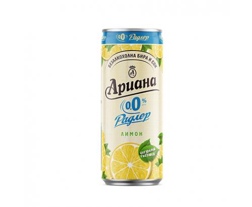 Бира Ариана Радлер 330мл Лимон 0% алкохол