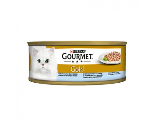 Храна за котки Гурме Голд 85г Двойно удоволствие Океанска Риба