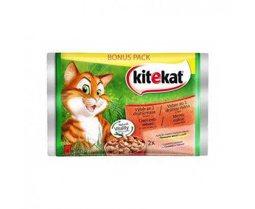 Храна за котки Китекат 4х100г Пауч Микс Меню