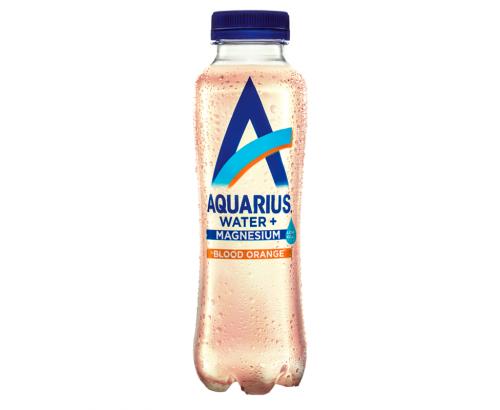 Вода Аквариус 400мл Магнезий и Червен портокал
